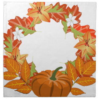 autumn wreath napkin