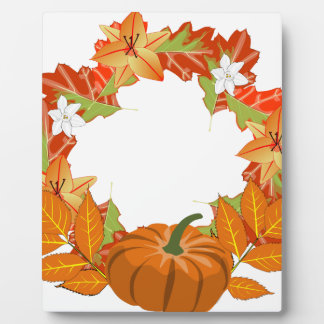autumn wreath plaque