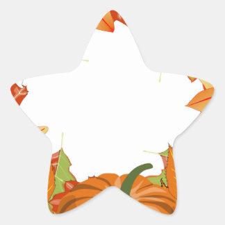 autumn wreath star sticker