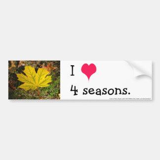 Autumn Yellow Maple Leaf Bumper Sticker