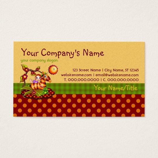 Autumn Zebra Pixel Art Business Card