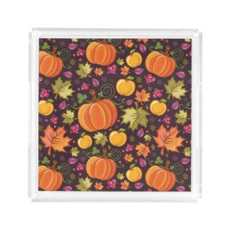 Autumnal background acrylic tray