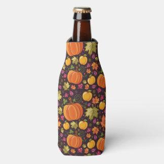 Autumnal background bottle cooler