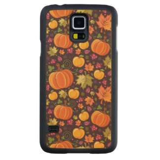 Autumnal background carved maple galaxy s5 case