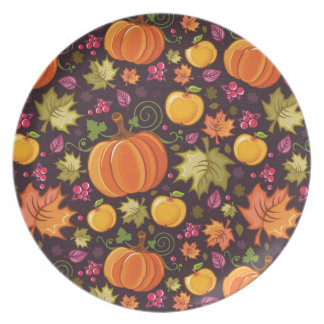 Autumnal background party plates