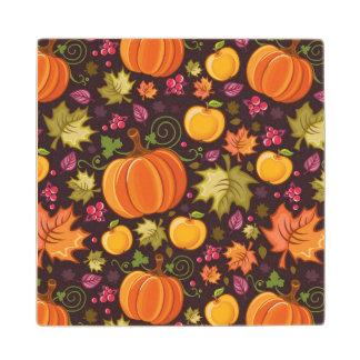 Autumnal background wood coaster