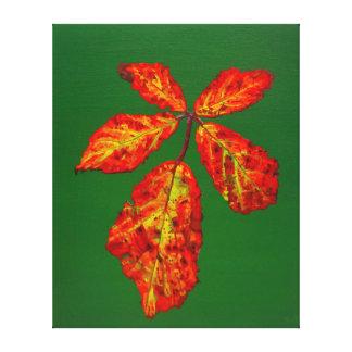 Autumnal Briar Leaves 4 Canvas Print