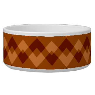 Autumnal Brown Colors Geometric Pattern.