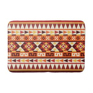 Autumnal Colors Aztec Pattern Bath Mats