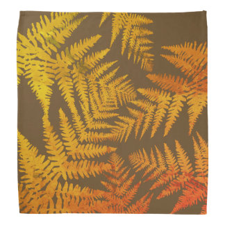 Autumnal ferns. bandana