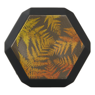 Autumnal ferns. black bluetooth speaker
