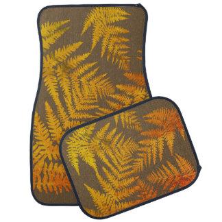 Autumnal ferns. car mat