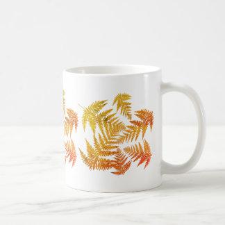 Autumnal ferns. coffee mug