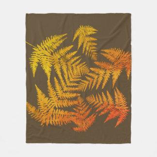 Autumnal ferns. fleece blanket