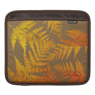 Autumnal ferns. iPad sleeve