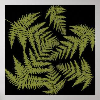 Autumnal ferns. poster