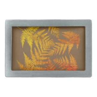 Autumnal ferns. rectangular belt buckles