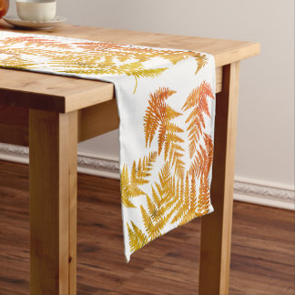 Autumnal ferns. short table runner