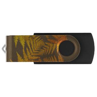 Autumnal ferns. swivel USB 3.0 flash drive