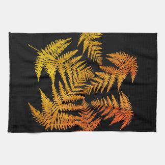 Autumnal ferns. tea towel