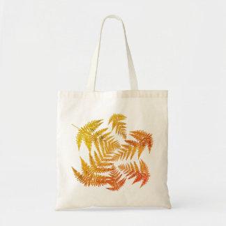 Autumnal ferns. tote bag