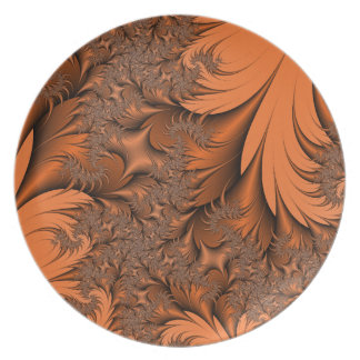 Autumnal Fractal Plate