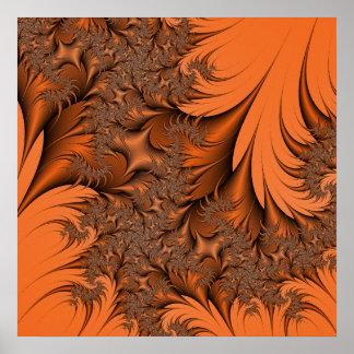 Autumnal Fractal Poster