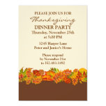 Autumnal leaves Thanksgiving Party Invitation