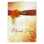 Autumnal leaves Wedding Thank You Note Card