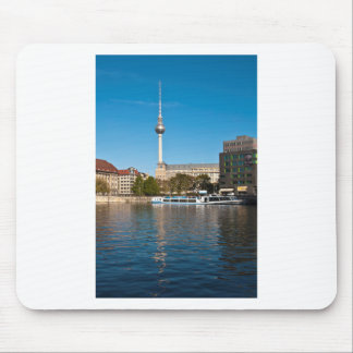 Autumnal morning tendency to the Spree in Berlin Mouse Pad