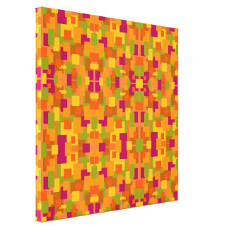 Autumnal Patch 2 Multi Fractal Canvas Print