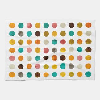 Autumnal Polka Dots Tea Towel