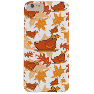 Autumnal seamless pattern with turkeys barely there iPhone 6 plus case