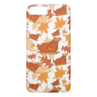 Autumnal seamless pattern with turkeys iPhone 8 plus/7 plus case