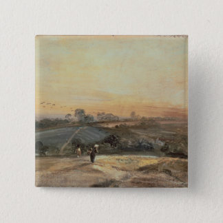 Autumnal Sunset 15 Cm Square Badge