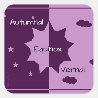 Autumnal/Vernal Equinox Mabon Harvest Home Square Sticker
