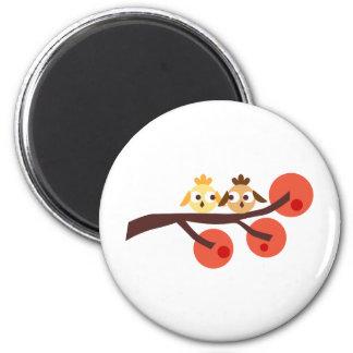 AutumnBranches9 6 Cm Round Magnet