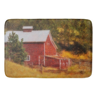 Autumn's Black Hills Barn Bath Mat Western Barn