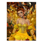 Autumn's Dance Fae Fantasy Art Postcard