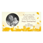 Autumn's Falling Leaves Thanksgiving Personalized Photo Card