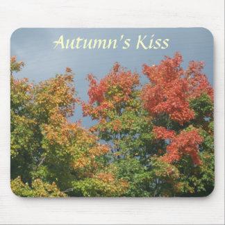 Autumn's Kiss Mouse Pads