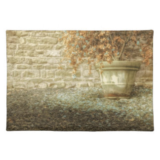AUTUMN'S SOFT LUSTER Weathered Flower Pot Placemat