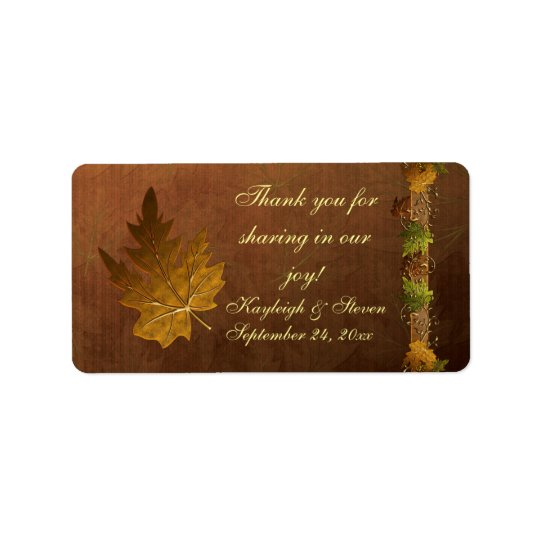 Autumn's Song Wedding Favour Stickers Address Label