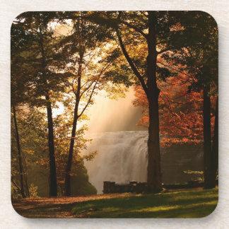 Autumns Waterfall Mist Beverage Coasters