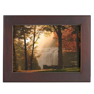 Autumns Waterfall Mist Keepsake Box
