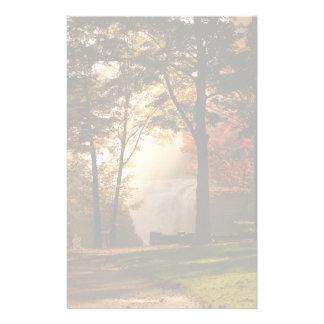 Autumns Waterfall Mist Stationery