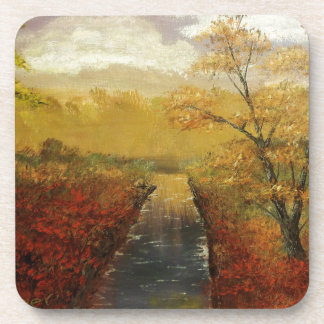 """Autum's Approach"" by Jack Lepper Coaster"