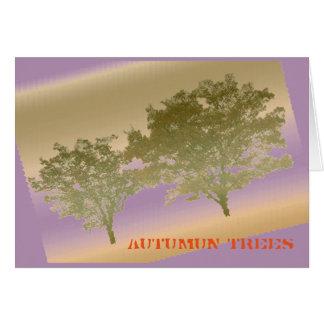 Autumun Trees Greeting Card