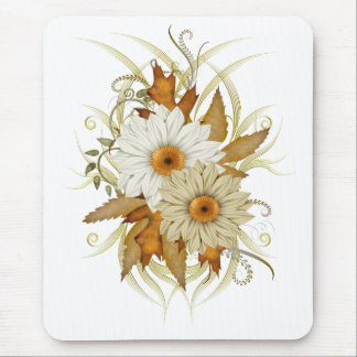 Auturm Flowers Mouse Mat