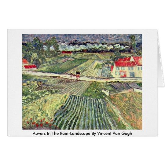 Auvers In The Rain-Landscape By Vincent Van Gogh